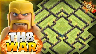 getlinkyoutube.com-Clash of Clans - BEST Townhall 8 Clan Wars/Trophy Base w/ Air Sweeper!