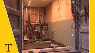 Shipping container conversion series video 17 (insulation, paint and flooring)