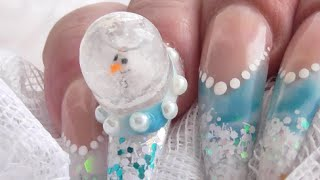 FROSTY SNOWMAN SNOW GLOBE ACRYLIC NAILS - Collab with Sophie's Bespoke Nails | ABSOLUTE NAILS