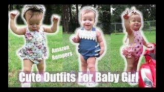 Cute Amazon Baby Rompers/ Baby Girl Look Book/ JDezTV width=
