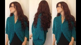 How to Crochet a Shrug - Bolero Pattern #2 │by ThePatterfamily