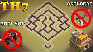 getlinkyoutube.com-Clash of Clans (CoC) | Best Town hall 7 War Base | TH7 Anti drag /Anti Hog/Anti giants War Base