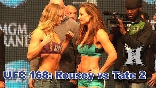 getlinkyoutube.com-UFC 168: Ronda Rousey vs Miesha Tate 2 Weigh-ins + Staredown (HD)