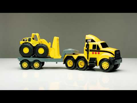 Cat Heavy Movers Flatbed with Excavator