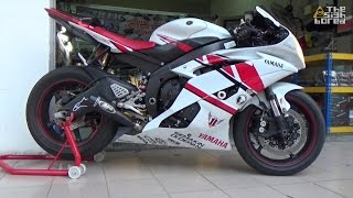 getlinkyoutube.com-Yamaha YZF R6 M4 GP exhaust