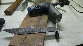 getlinkyoutube.com-Нож из быстрореза Р6М5. Долгожданная работа. Часть 1