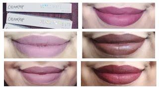 getlinkyoutube.com-ColourPop Ultra Matte Liquid Lipsticks Review | Lip Swatches | Better Than ABH Lipsticks!?
