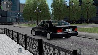 getlinkyoutube.com-City Car Driving 1.5.2 Mercedes S350d W140 [G27]