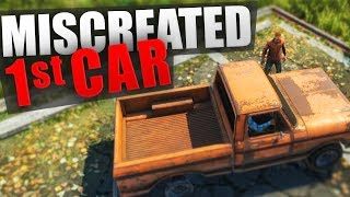 getlinkyoutube.com-How I got my first CAR in MISCREATED - and how we crashed it! :D