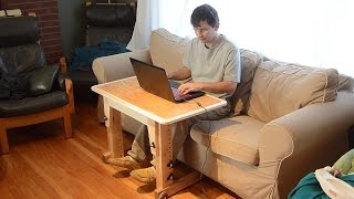 getlinkyoutube.com-Knock-down laptop table for couch / standup desk