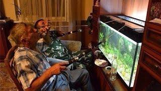 """getlinkyoutube.com-Оформление 600л аквариума в стиле """"Тропический Лес"""" с дискусами  и живыми растениями. Часть 1-я."""