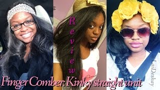 getlinkyoutube.com-Wig Review: Kinky Straight Unit by FingerComber ♡