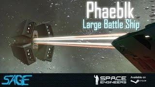 getlinkyoutube.com-Space Engineers, Phaeblk Battle Ship