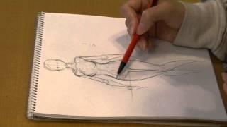"getlinkyoutube.com-SeAL_Morita_Eihire  draw girl's body by pencil ""How to draw manga""05"