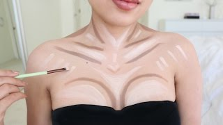 getlinkyoutube.com-Instant Cleavage with Makeup !!!