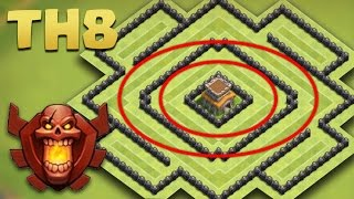 getlinkyoutube.com-Town Hall 8 Best TROPHY Base - AnTi 2 Star [TH8 TROLL Pushing] The Circle 2016 + Replays