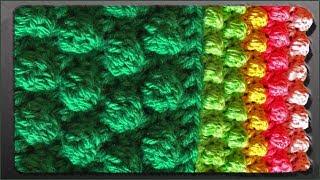 getlinkyoutube.com-Узор шишечки крючком (crochet pattern bumps)