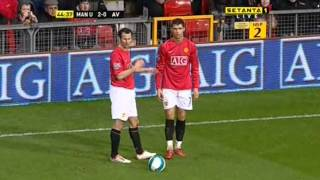 getlinkyoutube.com-Cristiano Ronaldo Vs Aston Villa Home (English Commentary) - 07-08 By CrixRonnie