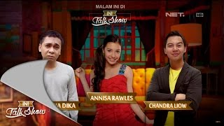 getlinkyoutube.com-Ini Talk Show - 19 November Part 1/4 - Raditya Dika, Annisa Rawles, Chandra Liow