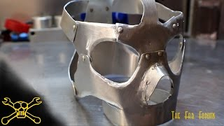 getlinkyoutube.com-Sheet Metal Skull | Mask Fabrication