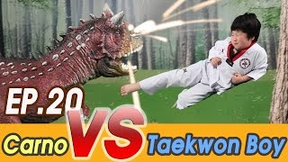 getlinkyoutube.com-[EP20] Jurassic World (Carnotaurus VS TaeKwondo boy Coco)  Dinosaurs Battle 공룡만화영화