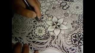 getlinkyoutube.com-Doodle Flowers Explosion (Doodle Drawing 3)