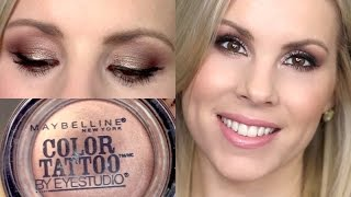 getlinkyoutube.com-Eyeshadow Tutorial | Bad to the Bronze Maybelline Color Tattoo