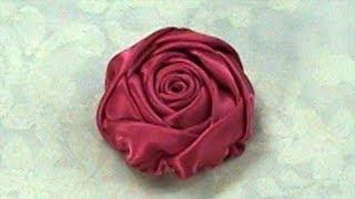 getlinkyoutube.com-DIY Ribbon Rose, Tutorial, DIY, Rose Bud How to make