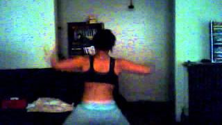 me dancing to bounce and break yo back