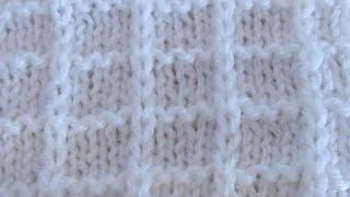 getlinkyoutube.com-Простой вафельный узор  спицами. Simple knitting pattern.