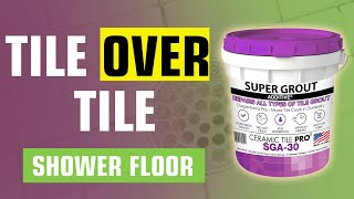 getlinkyoutube.com-Tile over Tile Shower Floor - Never Seal Again - Epoxy Bond Grout
