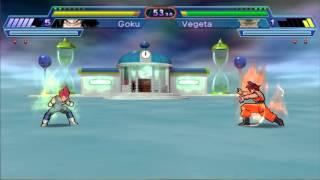 getlinkyoutube.com-Dragon Ball Z Shin Budokai 2 - Goku Ssj God Vs Vegeta Ssj God