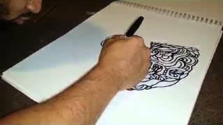 getlinkyoutube.com-Wu-Tang Logo Timelapse Drawing Tutorial