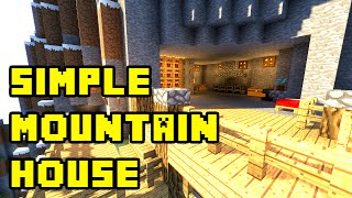 getlinkyoutube.com-Minecraft: Simple Mountain Cliff Cave House Tutorial Xbox/PE/PC/PS3/PS4