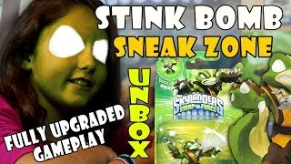getlinkyoutube.com-Stink Bomb Unboxing + Sneak Zone + Fully Upgraded Gameplay (Skylanders Swap Force) Wave 3