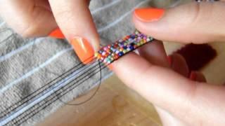 getlinkyoutube.com-Making a Bead Loom Bracelet
