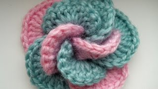 Crochet flower. Tutorial.