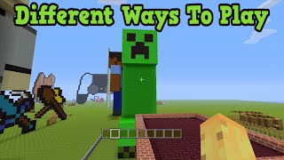 getlinkyoutube.com-Minecraft - 5 Very Different Ways To Play
