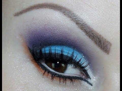 Maquiagem Azul e Roxo