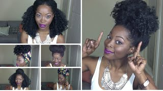 getlinkyoutube.com-6 QUICK HAIRSTYLES FOR A KINKY CURLY WIG Featuring: THE KINKY KURL OUT UNIT by Fingercomber