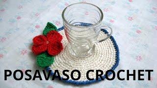 getlinkyoutube.com-Como hacer Posa vasos en tejido crochet tutorial paso a paso.