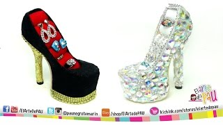 getlinkyoutube.com-❥DIY PRO High Heel Jewelry Holder / Zapato Alhajero PROFESIONAL