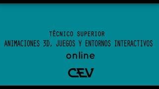 Formación profesional de Animación 3D Online en CEV