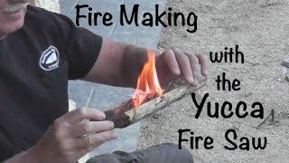 getlinkyoutube.com-Fire Making with Yucca Fire Saw