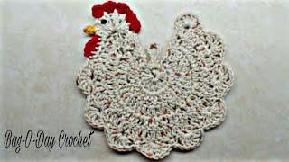 getlinkyoutube.com-CROCHET How to #Crochet Chicken Potholder #TUTORIAL #237