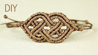 getlinkyoutube.com-Celtic Style Macrame Bracelet
