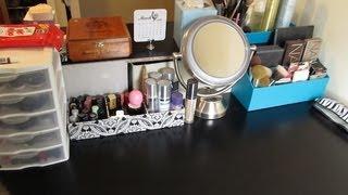 getlinkyoutube.com-Makeup Storage Makeover! Getting Organized