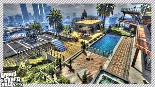 getlinkyoutube.com-Franklin's Supersized Mansion (GTA 5 MODS)