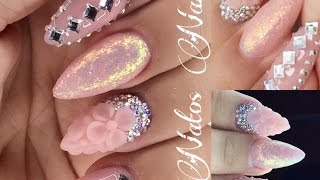 getlinkyoutube.com-Uñas Acrilicas Decoradas | Bling Bling Glamour Nails | Natos Nails