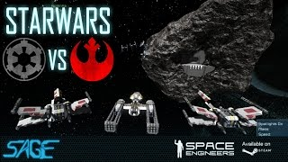 getlinkyoutube.com-Space Engineers, Star Wars, Empire vs Rebels (Base Defense)
